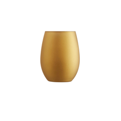 Chef & Sommelier Tumbler-Glas Primary Gold, Krysta Kristallglas, Trinkglas Wasserglas Saftglas 350ml Krysta Kristallglas gold 6 Stück