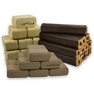 mumba - Probierset insgesamt 30kg Holzbriketts (10kg Mischholzbriketts eckig, 10 kg Eichenbriketts eckig und 10kg Buchenbriketts eckig)