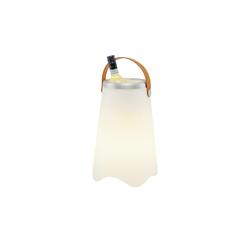 Trio Akku-LED-Tischleuchte weiß, Flaschenhalter Sektkühler beleuchtet ¦ weiß Ø: 24.5