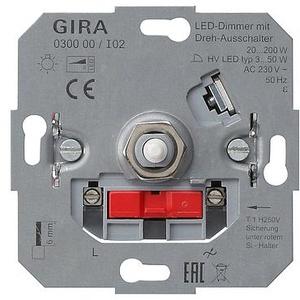 Gira LED-Dimmeinsatz mit Dreh-Ausschalter (030000)