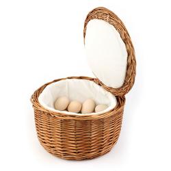 APS Eierkorb, Rattan, Baumwolle, (1-tlg), handgeflochten, Vollweide