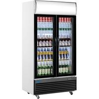Saro Getränkekühlschrank mit Werbetafel - 2-türig Modell GTK 800