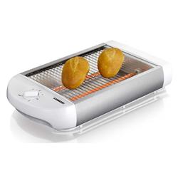 MELISSA Toaster 16140111 Flach-Toaster Brötchen-Röster, weiß, 600 W