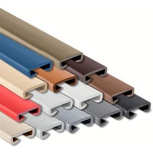 ProfiPVC Handlauf PVC Treppenhandlauf Geländer Kunststoffhandlauf Gummi 40x8mm (Hellgrau)