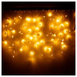 TOPMELON Lichtervorhang LED-Lichterkette, 216-flammig gelb 80 cm x 5 m