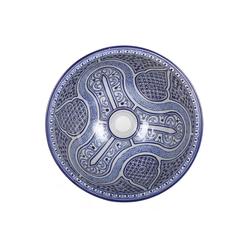 Casa Moro Waschbecken Mediterranes Keramik-Waschbecken Fes100 rund Ø 40 cm bunt H 18 cm Handmade Waschschale, Marokkanisches Handwaschbecken Aufsatzwaschbecken für Badezimmer Küche Gäste-WC, WB40310, Handmade