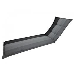 Madison C404 Rollliegenauflage Gartenliege 190x60x8cm grau gestreift