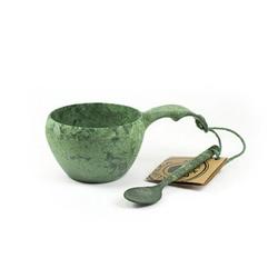 Kupilka Tasse 21 mit Löffel grün