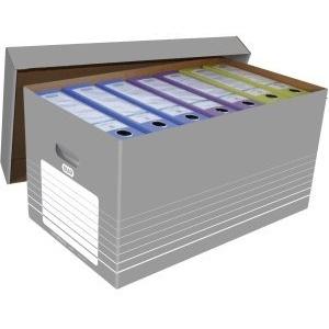 Elba 5 x Umzugskarton tric Wellpappe IM 350x585x300mm grau/weiß