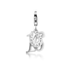 Nenalina Charm-Einhänger 16 Hufeisen Glück Kristalle 925 Silber