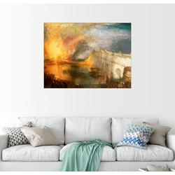 Posterlounge Wandbild, Die Verbrennung der Herrenhäuser 80 cm x 60 cm