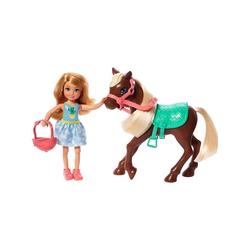 Mattel® Puppen Accessoires-Set Mattel GHV78 - Barbie - Chelsea Club - Puppe mit Pony