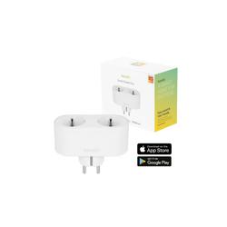 Hombli Smart Duo-Steckdose EU Smarte Steckdose, WLAN-Fernsteuerung, Zeitschaltuhr, Stromverbrauchanzeige, kompatibel mit Amazon Alexa und Google Home, Fernsteuerung über kostenlose Hombli App