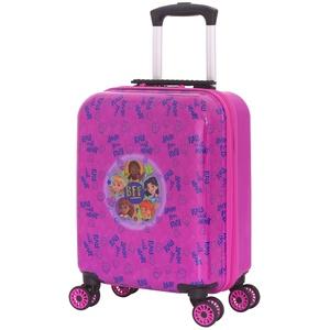 BBM Bags Play Date Trolley aus ABS Kunststoff, Reisetrolley mit BBM Friends with Heart Motiv, Kindertrolley mit 30 Liter Volumen, Trolleykoffer mit 4 Doppellauf Rollen, Kinder Koffer Pink