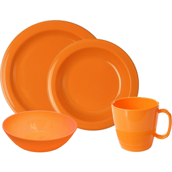 WACA Frühstücks-Geschirrset (8-tlg), Kunststoff orange