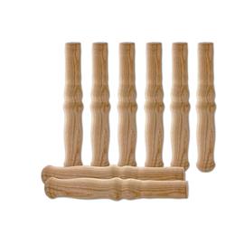 BigDean Schubkarre 8 XXL Holzgriffe für Schiebkarre ca. 23,5 cm lang − Hochwertig, flexibel, bereichernd − Ideal für jede Sackkarre