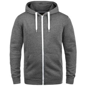 Solid Kapuzensweatjacke Olli ZipHood Sweatshirtjacke mit kontrastfarbenen Reißverschluss grau S