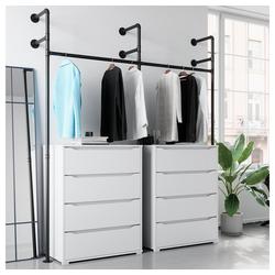 Vicco Garderobe Loft Kleiderschrank RUBEN Kleiderstange offen begehbar Kommode 180 cm
