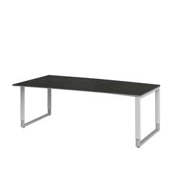 PC Schreibtisch in Grau höhenverstellbar
