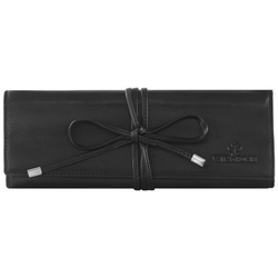 Windrose Nappa Schmuckrolle 21 cm Leder schwarz