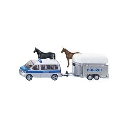 Siku Spielzeug-Auto SIKU 2310 Polizei PKW mit Pferdeanhänger 1:55