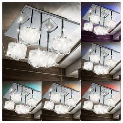 Esto Deckenleuchte, Deckenleuchte Deckenbeleuchtung Lampe Leuchte LED-Farbwechsler Chrom Kristallglas Esto 749030-5
