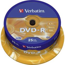 Verbatim 43522 DVD-R Rohling 4.7GB 25 St. Spindel Antikratzbeschichtung
