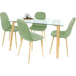 Essgruppe, (Set, 5-tlg) grün