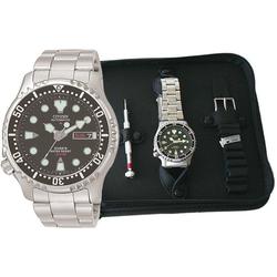 Citizen Taucheruhr NY0040-09EEM, (Set, 3-tlg), mit 1 Armband