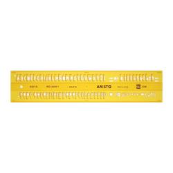 Aristo Schriftschablone ISO 3098 1 gerade 0,5mm