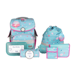 Schulranzen-Set School Mood Timeless Air Plus Lilly (Meerjungfrau) mit LED-Patchy 7tlg.