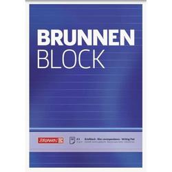 Briefblock Brunnen A5 70g/qm liniert 50 Blatt