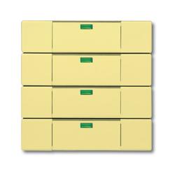 Busch Jaeger 6127-815-101, Tastsensor, gelb, Busch-Powernet KNX, Bedienelemente solo