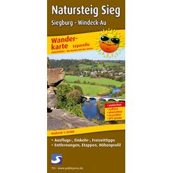 Natursteig Sieg Siegburg - Windeck-Au 1 : 25 000