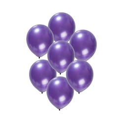 Folat Luftballon Luftballons metallic rot 30 cm, 50 Stück lila