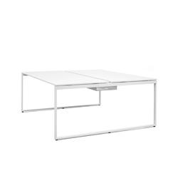 Schreibtisch Pop Bench Square weiß, 74x180x165 cm