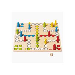 goki Spiel, Lernspiel Brettspiel Ludo basic, Brettspiel aus Holz