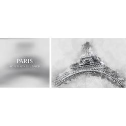 Leinwandbild Paris, (Set), 2er-Set