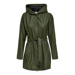 ONLY Langer Regenjacke Damen Grün Female XS