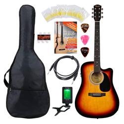 Fender Squier SA-105CE Westerngitarre SB Set