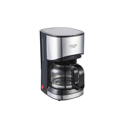 Adler Filterkaffeemaschine AD-4407, 0,7l Kaffeekanne, Edelstahldesign, Tropfstopp-Funktion