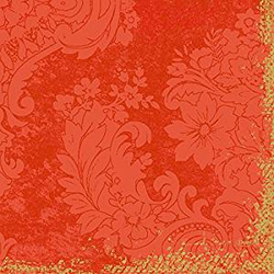 Duni Dunilin-Servietten 1/4 Falz 40 x 40 cm Royal Mandarin 50 Stück