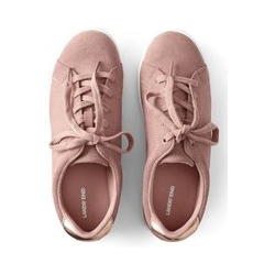Sneaker, Damen, Größe: 36 Weit, Rot, Leder, by Lands' End, Adobe Rose - 36 - Adobe Rose