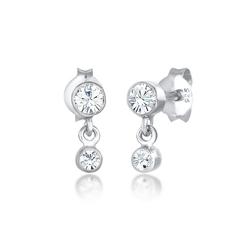 Elli Ohrhänger-Set Ohrhänger Swarovski® Kristalle 925 Silber, Kristall Ohrhänger silberfarben
