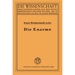 Die Enzyme als Buch von Ernst Waldschmidt-Leitz