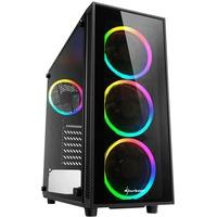Sharkoon TG4 RGB Tower-Gehäuse schwarz,
