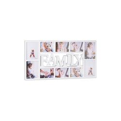 relaxdays Collagerahmen Bilderrahmen Familie für 10 Fotos weiß