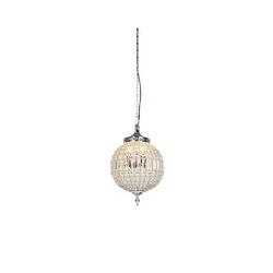 Qazqa - Art Deco Hängelampe Kristall 35 cm - Kasbah
