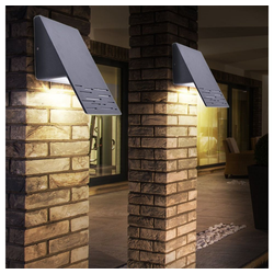 etc-shop LED Aufbaustrahler, 2er Set LED 8 Watt Außen Wand Leuchten Haus Tür Beleuchtungen Fassaden Strahler