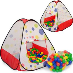 Spielset Kinderspielzelt Tiana inkl. 200 Bällebadbällen   Spielzelt Spielhaus für Jungen und Mädchen   Kinder-Bällebad-Zelt mit Spielbällen   inkl. Tragetasche
